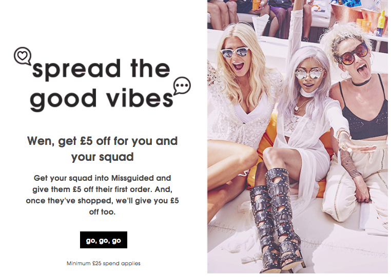 Missguided Referral Programme