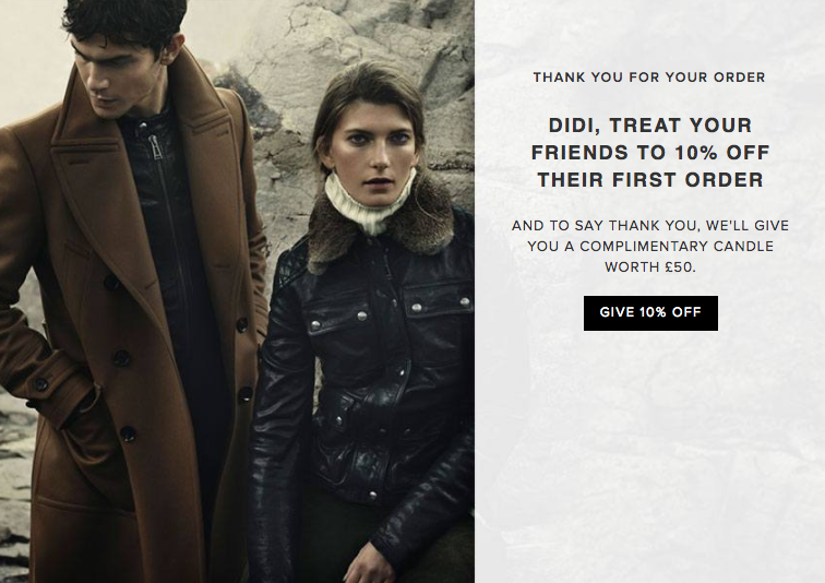 Belstaff Customer Referral Scheme