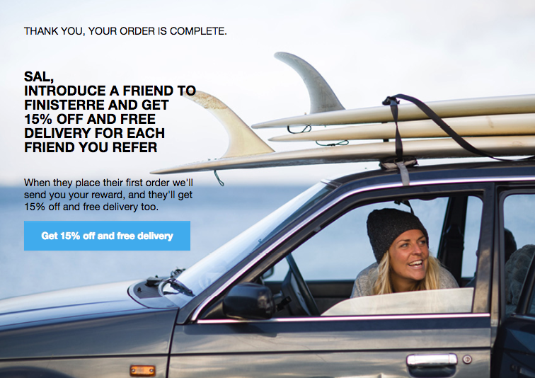 Finisterre Refer-a-Friend program