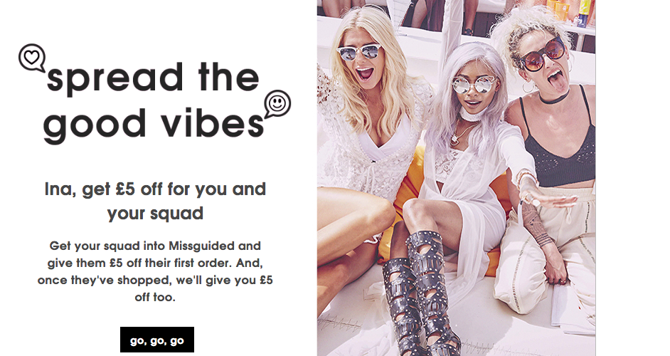 Missguided Referral Programme Offer