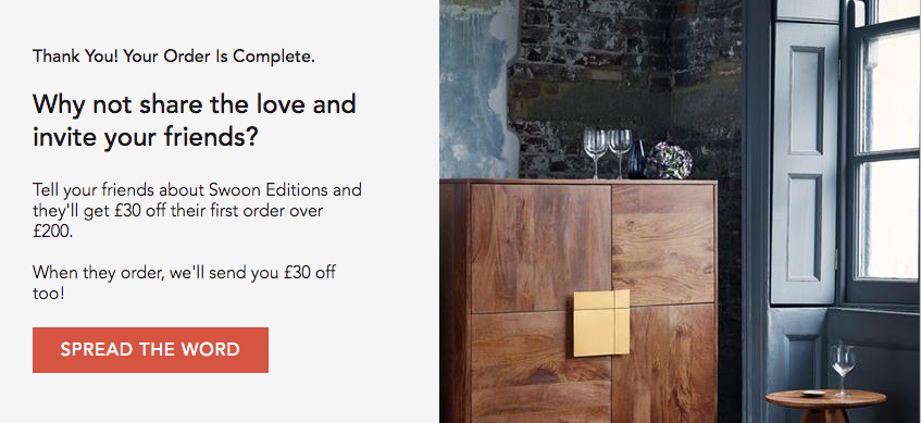 Swoon Editions Launch Refer-a-friend scheme via Mention Me referral platform