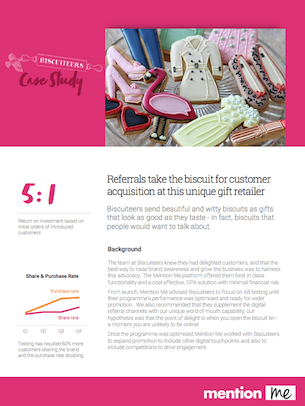 Biscuiteers Referral Programme Case Study