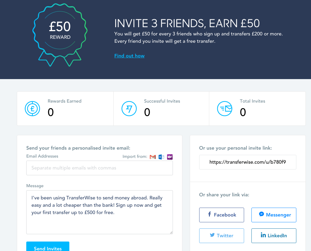 Transferwise Refer a Friend Scheme