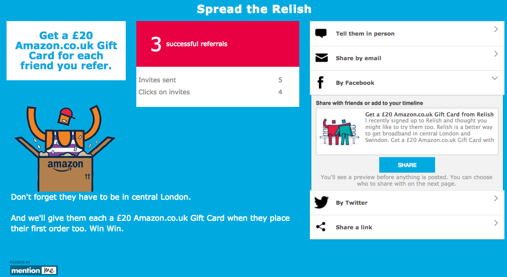 Relish Recommend a Friend Scheme