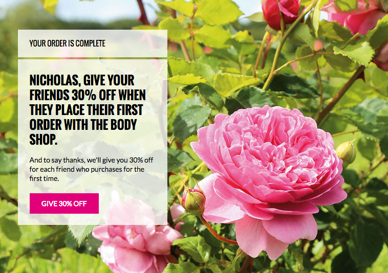 Body Shop Referral Programme