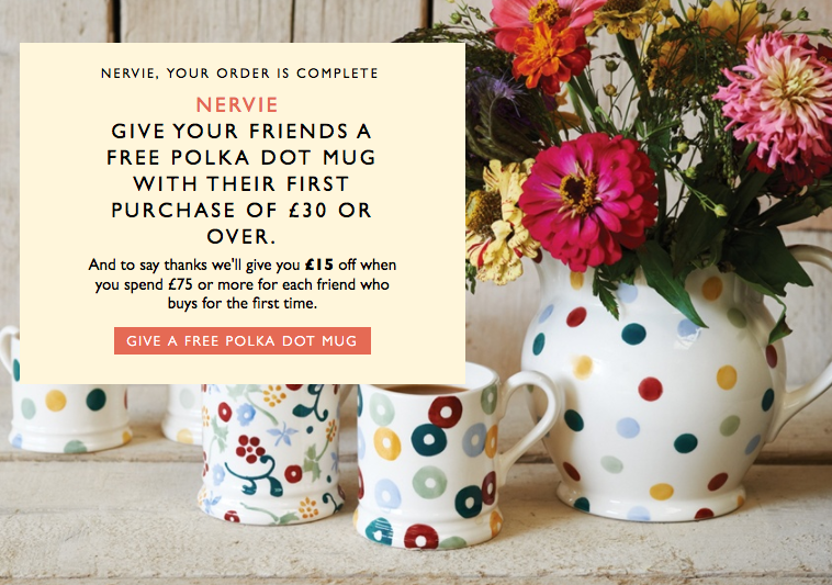 Referral Marketing Scheme for Emma Bridgewater