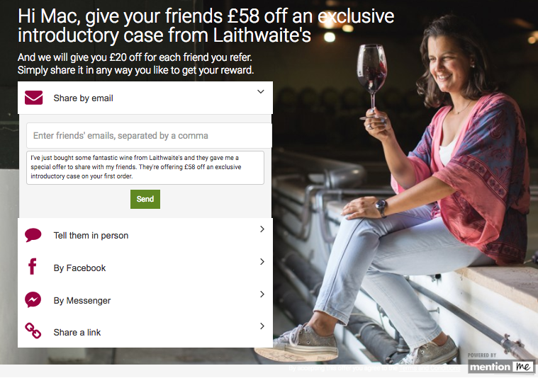Laithwaites referral programme