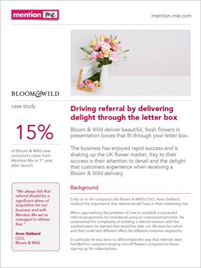 Bloom & Wild referral case study
