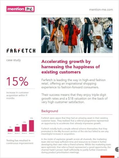 Farfetch referral scheme case study