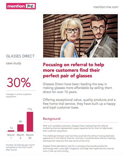 How refer-a-friend boosted Glasses Direct online acquisition