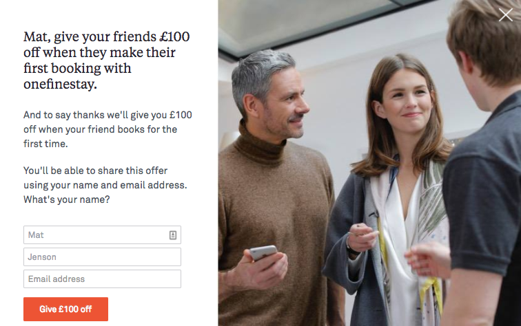 onefinestay refer-a-friend offer