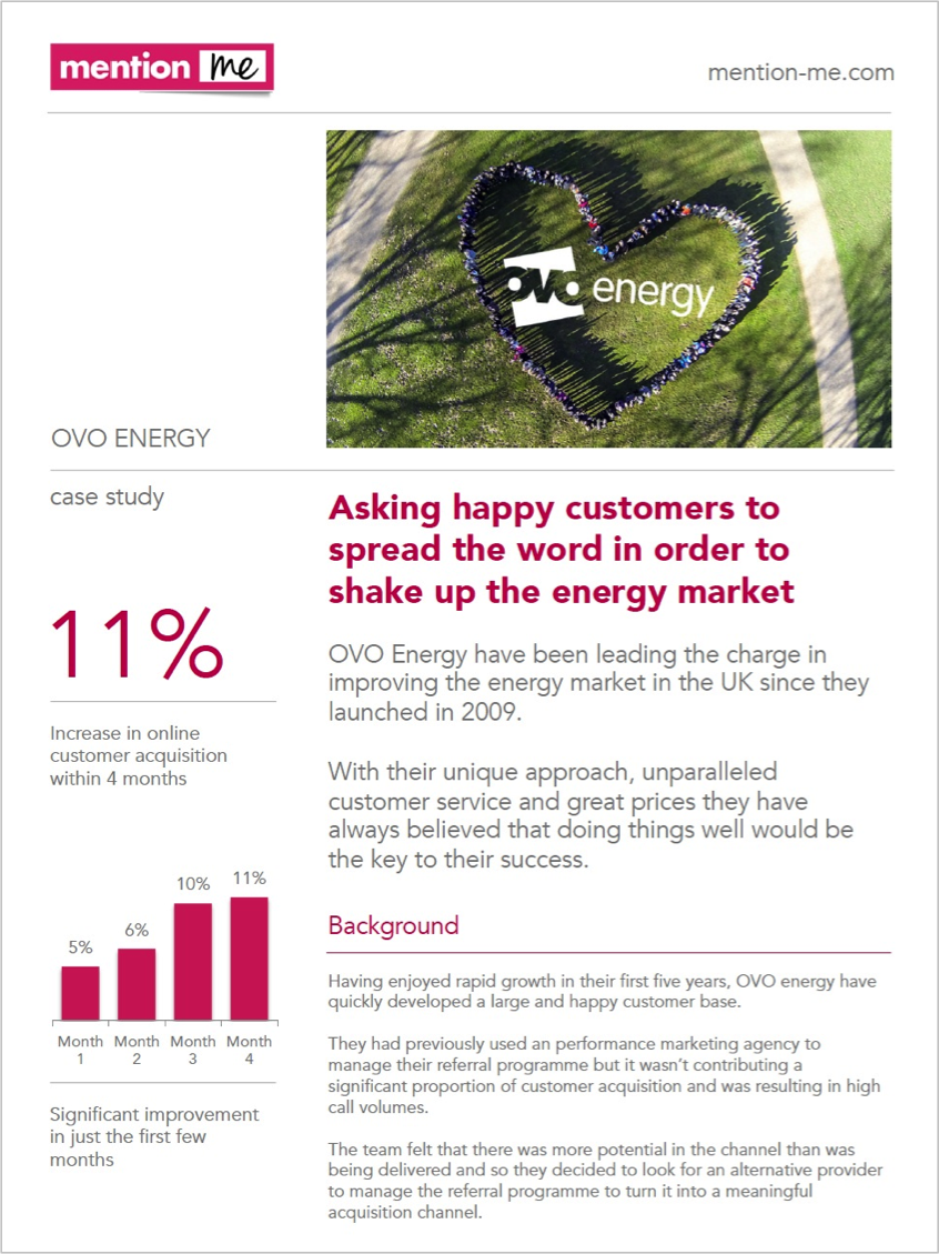 Ovo Energy refer-a-friend Case Study