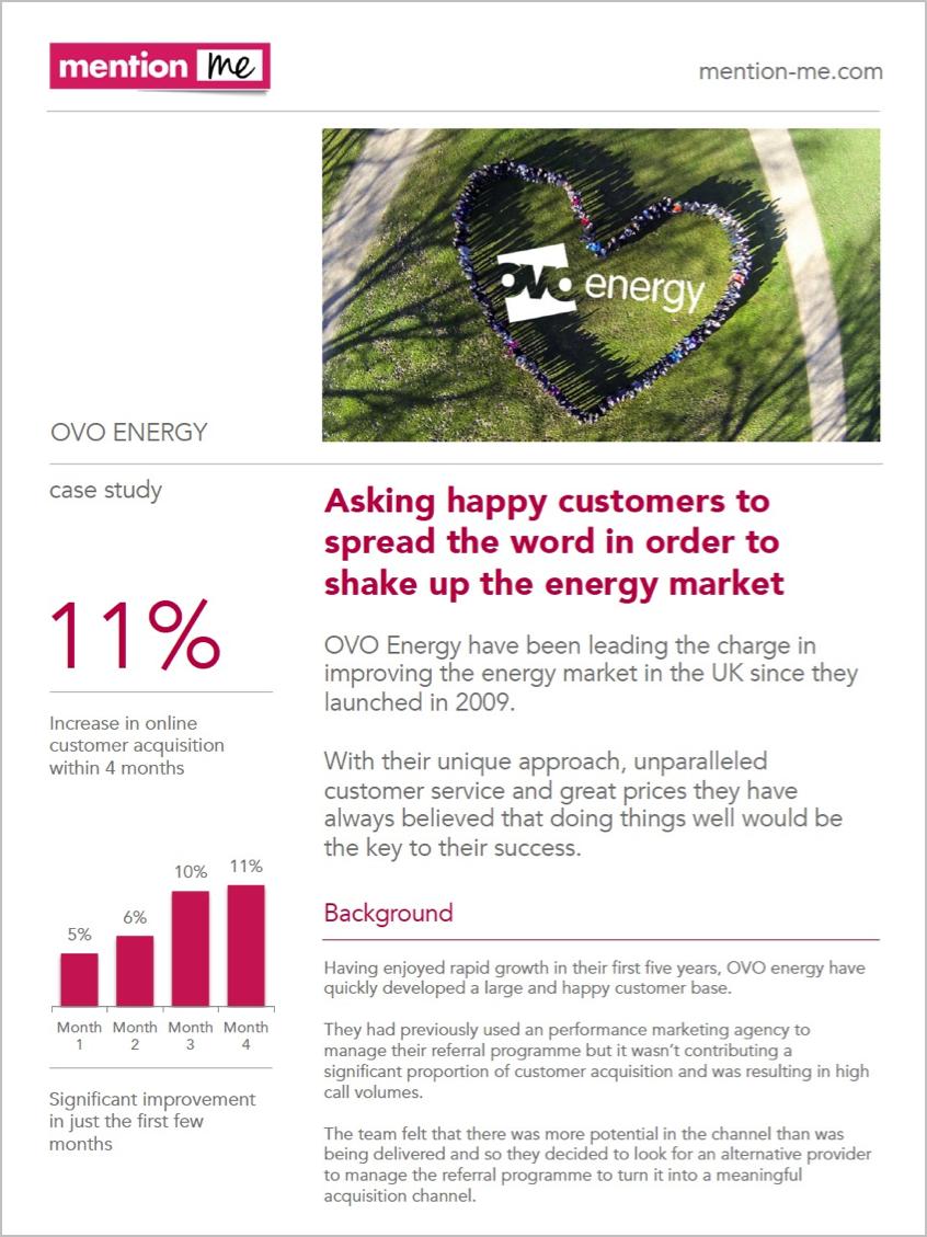 Ovo Energy refer-a-friend Case Study