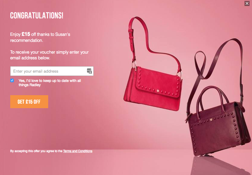 Radley Handbags Referral Scheme