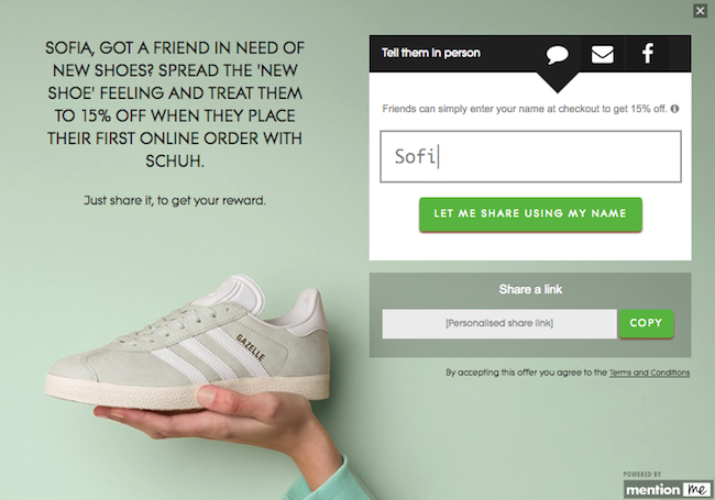 Schuh Referral Offer Example