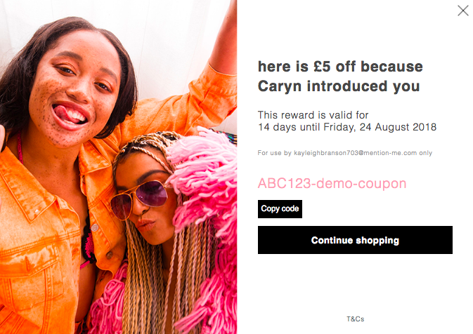 Missguided referral offer