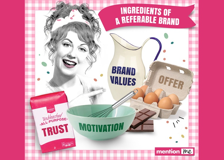 Attributes of a referable brand - marketing infographic