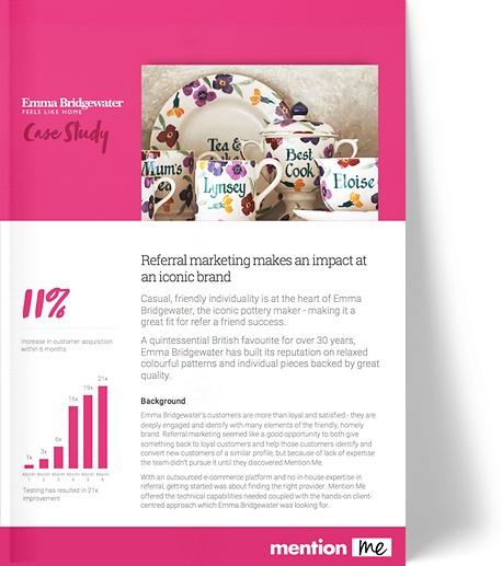 Emma Bridgewater referral program case study