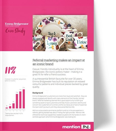 Emma Bridgewater referral program case study