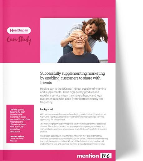 Healthspan referral programme case study