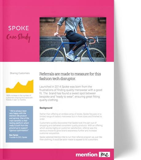 Spoke referral scheme case study