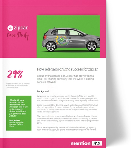 Zipcar referral marketing program case study