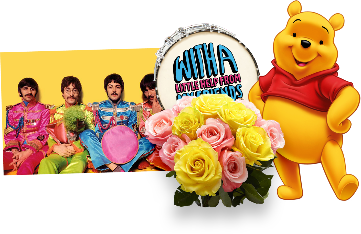 Beatles and Winnie the Pooh